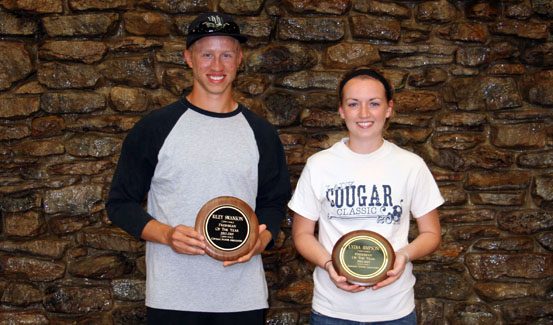 Riley Swanson and Lydia Simpson were named the 2012-2013 CSA Freshmen of the Year