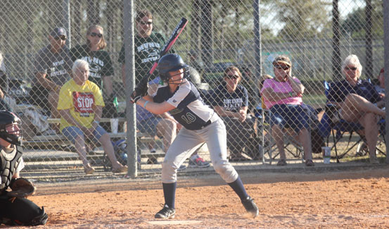 Keli Thompson had a solo home run in the Lady Cougar's win over Grace
