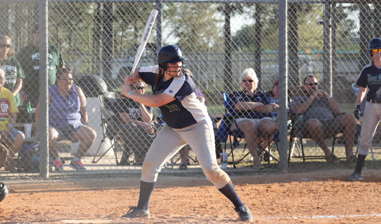 Megan Beidelman led the Lady Cougar offense with two hits, two RBI and one run scored