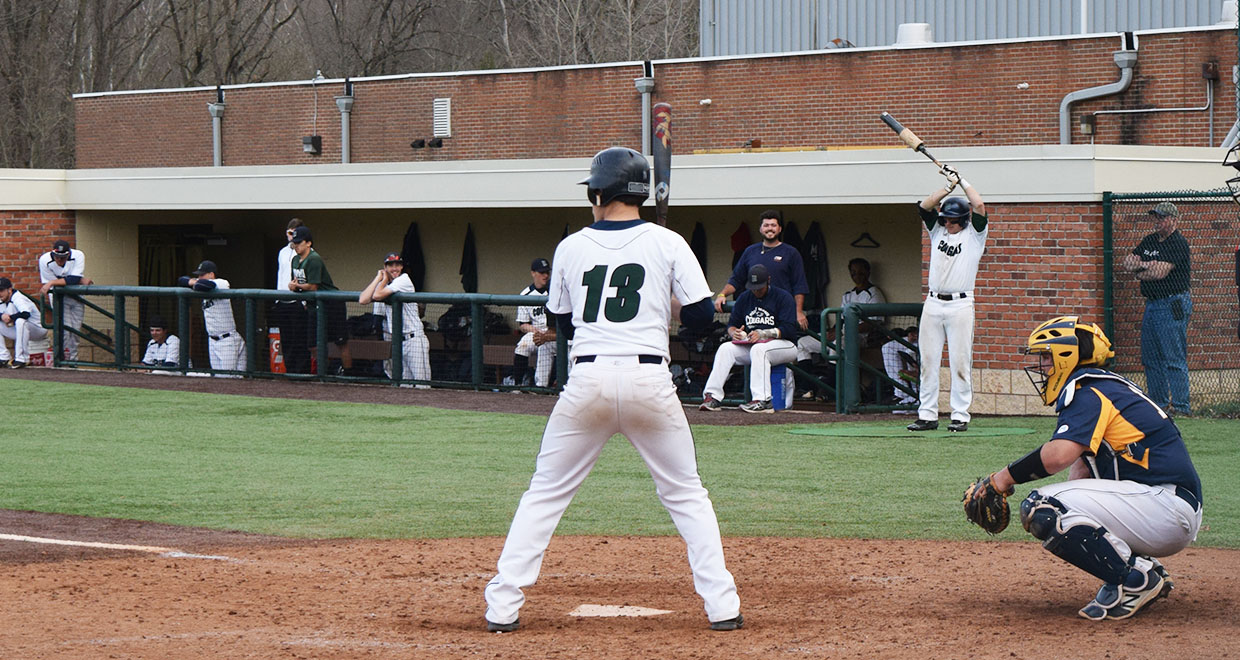 Brandt Miller had two triples in the Cougars 12-6 win over IWU in game two.
