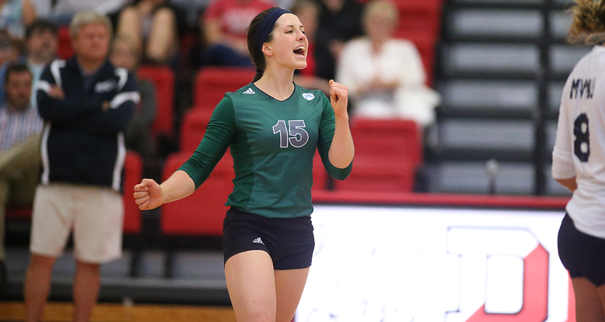 Photo for Cougar Volleyball Topples Alderson Broaddus, Ursuline