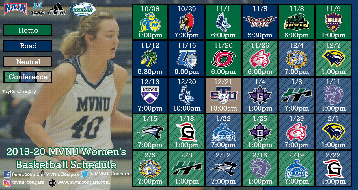 Women S Basketball Announce 2019 20 Schedule Mount Vernon